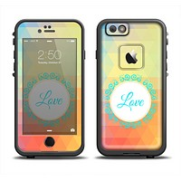 The HighLighted Colorful Triangular Love Apple iPhone 6 LifeProof Fre Case Skin Set