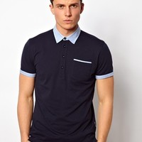 Peter Werth Polo Shirt With Jersey Collar