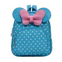 School Backpack trendy 2018 New Cute Bow Tie Minnie Mochila Cartoon Small  Mini Backpack for Girl Toddler Bacpback Mochila Kanken Bolsa AT_54_4