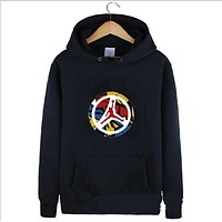 Jordan autumn and winter new trend basketball hooded sweater Black