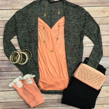 For Your Love Cardigan: Black