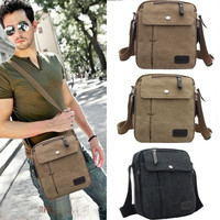 New Men's Vintage Canvas Multifunction Travel Satchel / Messenger Shoulder Bag 7_S = 1916815556