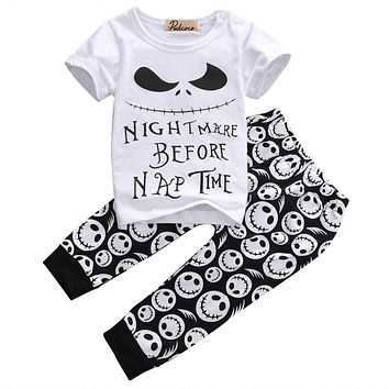 Pudcoco 2017 New summer style Cotton Baby Boys Casual T-shirt+Cross Pants 2pcs baby clothing sets baby boy clothes