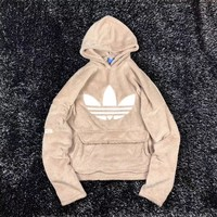 Adidas Fashion Hoodie Fleece Top Pullover Sweater Khaki
