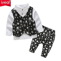 Boys Clothes Sets Formal Gentleman Suit Children Clothing Set Kids Clothes for Baby Birthday Wedding Party