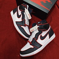 Air Jordan 1 high-top men's and women's versatile sneakers shoes