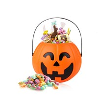 Pumpkin Trick Or Treat Candy Bucket Portable Halloween Party Tree Light Decor Kids Gifts Snacks Bag Candy Barrel Decoration #ET