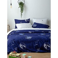 Planet Print Bedding Sets Without Filler