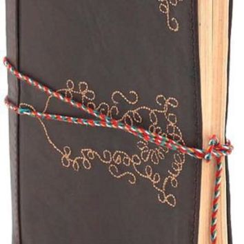 BARNES & NOBLE | Leather Embroidered Brown Journal 5x7 by Barnes & Noble