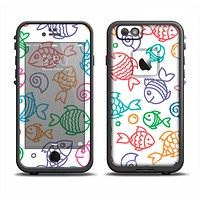 The Vector Color-FIsh Apple iPhone 6/6s LifeProof Fre Case Skin Set