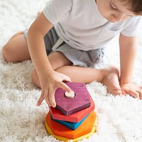 Rainbow Wooden Shape Stacker