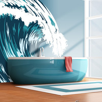 Graphic Vinyl Wall Decal Ocean Wave #MCrespo104