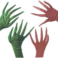 Costume Accessory: Gloves Creepy Nightmare Burgundy
