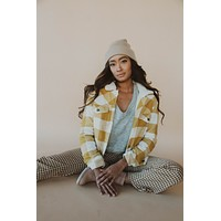 Mary Anne Plaid Jacket in Yellow