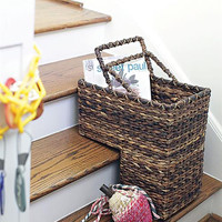 Leaf Woven Stair Basket