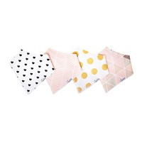 Multi-Color-Blush-4-Pack-Copper-Pearl-Bandana-Drool-Bibs