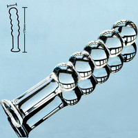 5 balls pyrex glass crystal dildos fake penis Anal beads butt plug Sex toy for women men Adult male female masturbation products