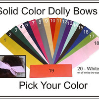 Dolly Bow Wire Headbands Pick Your Solid Color by Lorettajos