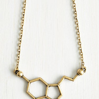 Statement Neurotransmit Your Love Necklace by ModCloth