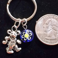 Free shipping. Grateful dead keychain. Dancing bear