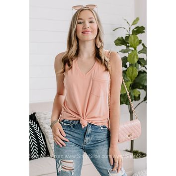 Esther Pocket Tank Top | Dusty Pink