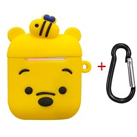 Cute Cartoon Pig - Protective Case Cover Compatible with the Apple Airpods Gen 1 or 2 with Wireless Charging Headphones Headphones