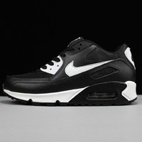 NIKE AIR MAX 90 Trending Snake Skin Texture Black White Women Men Sneakers