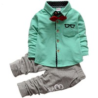 Cute Suit+Pants Baby Boy Clothing Sets