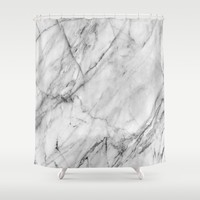 Marble Shower Curtain by Patterns And Textures