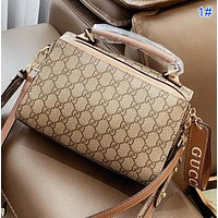 GUCCI New fashion more letter leather shoulder bag crossbody bag handbag 1#