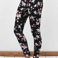 Floral Dailies Printed Leggings {Pink Mix}