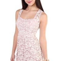 all over floral lace corset style casual dress