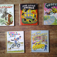 1940's First Edition Little Golden Books Lot.  Fine Condition Range.  Simon and Shuster.