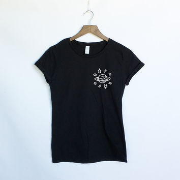 ZZZ Planet and Stars Universe Shirt - Space Galaxy and Stars Tumblr Shirt - Space Shirt Planets and Solary System - Celestial - Present and Gift