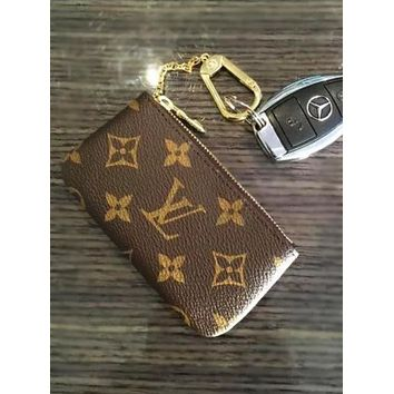 LV Louis Vuitton canvas key bag F