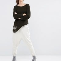 Daisy Street Relaxed Sweater With Distressing at asos.com