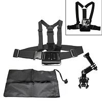 Chest Strap with 3-Way Mount + FREE Pouch Bag for GoPro Hero 2 3 3+ 4 Session