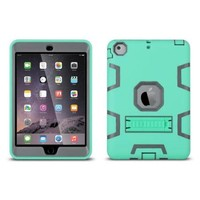 ULAK Shock-Absorption / High Impact Resistant Hybrid Protective Case Cover with Kickstand for Apple iPad Mini 1/2/3 (Mint Green/Gray) - Walmart.com