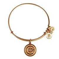 Alex and Ani Chicago Cubs™ Cap Logo Charm Bangle - Russian Gold