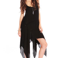 FRAYED STRANDED DRESS