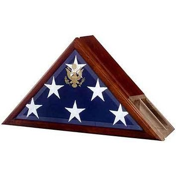Flag Connections Flag case profile with a built-in urn compartment