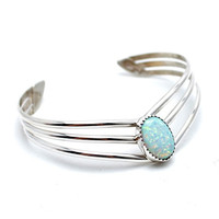Moon Phases Opal Cuff