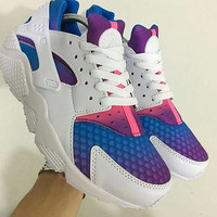 Custom Nike Air Huarache Painted Shoes Originals Nike Sneakers Customized Women's Sneakers