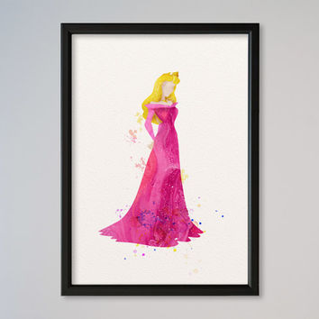 Sleeping Beauty Princess Watercolor print Disney Sleeping Beauty Watercolor Illustration poster Kids Wall art Nursery Giclee Print Fine Art