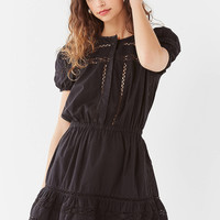 UO Luna Crochet Button-Down Dress | Urban Outfitters