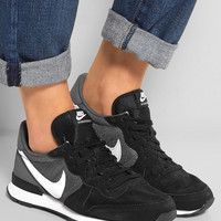Nike | Internationalist suede, leather and mesh sneakers | NET-A-PORTER.COM