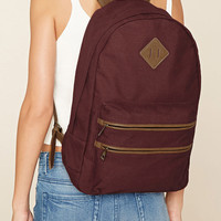 Faux Leather-Trimmed Backpack