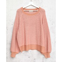Dreamers - Pullover Sweater with Balloon Sleeves in Dust Coral
