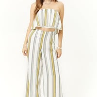 Geo-Striped Wide-Leg Pants