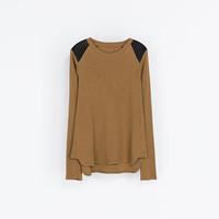T - SHIRT WITH GATHERED SHOULDERS - T - shirts - Woman | ZARA United States